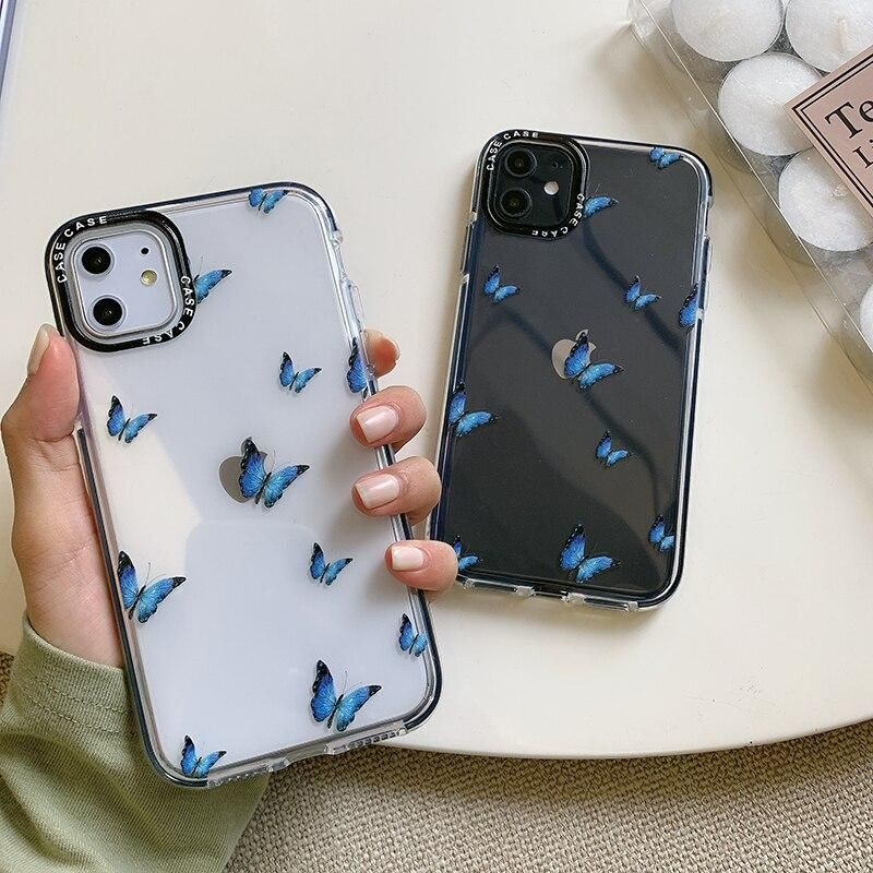 Blue Butterfly iPhone Case in 2020 | Girly phone cases ...