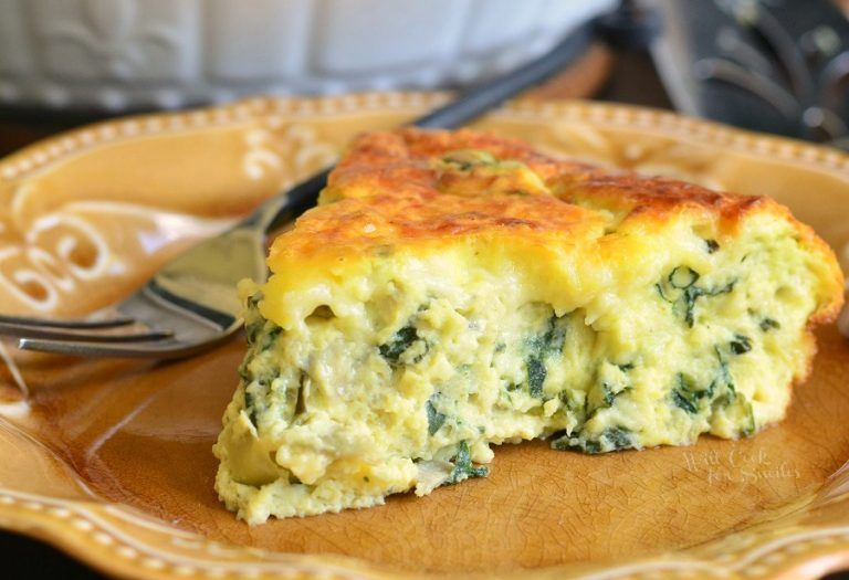 Combine 12 Eggs 1 Cup Sour Cream 1 Cup Hwc Salt And Pepper Wilt 16oz Spinach Then Mushrooms On Quiche Recipes Crustless Crustless Quiche Spinach Quiche Recipes