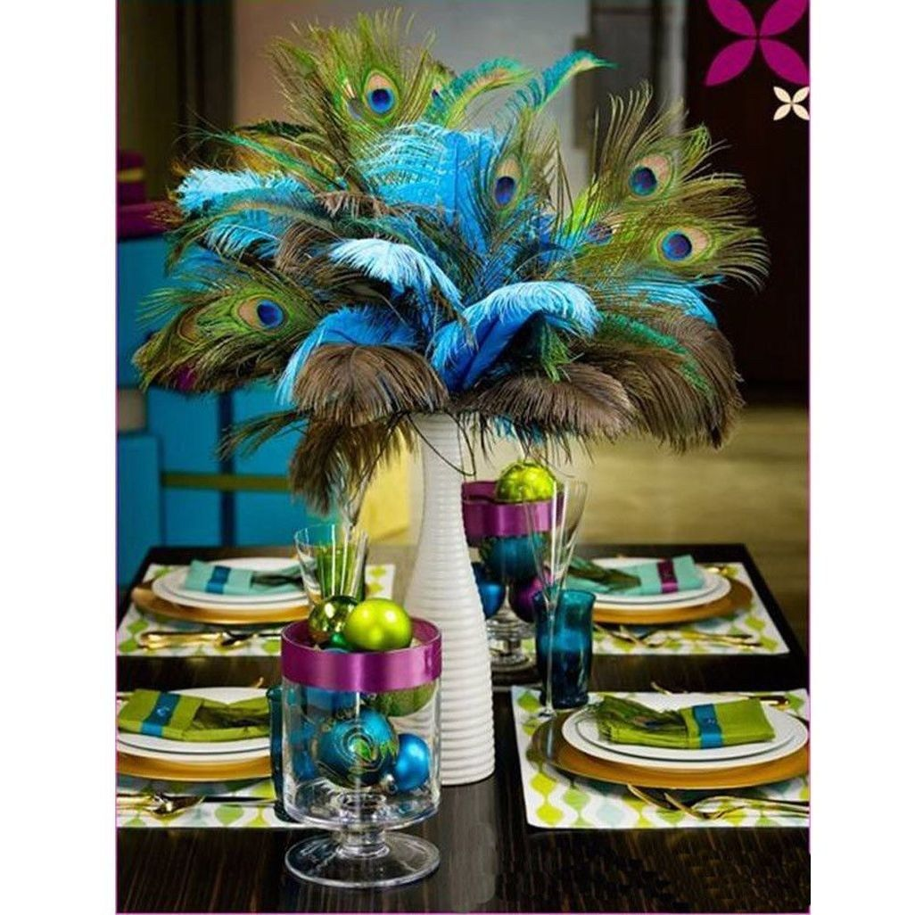 Unique Peacock Wedding Ideas: Ideas For Peacock Wedding Centerpieces Unique Style 11