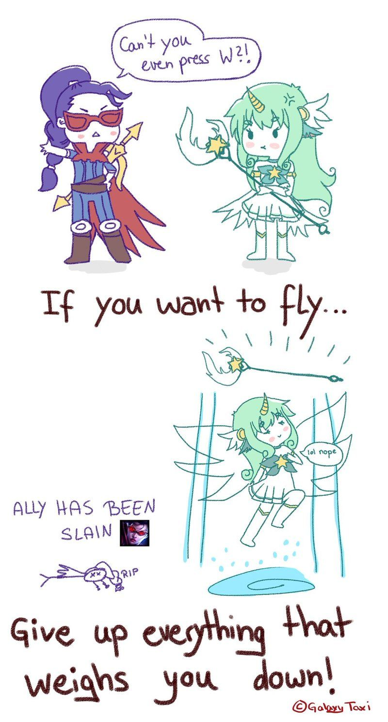 Star Guardian Soraka Comic by GalaxyTaxi | League of Memers in 2019