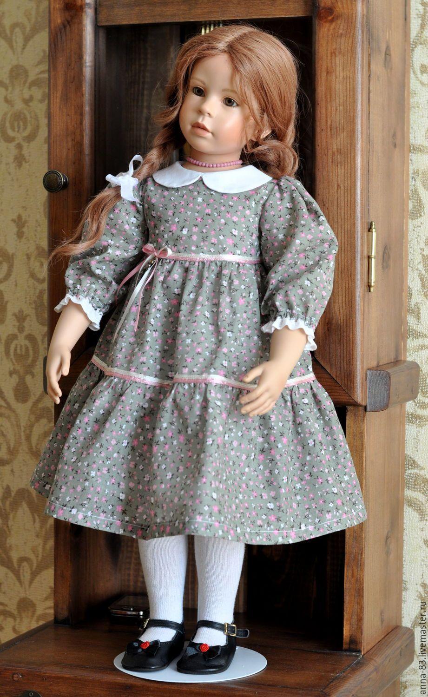 схема выкройка платья куклы 30 см снегурочка
