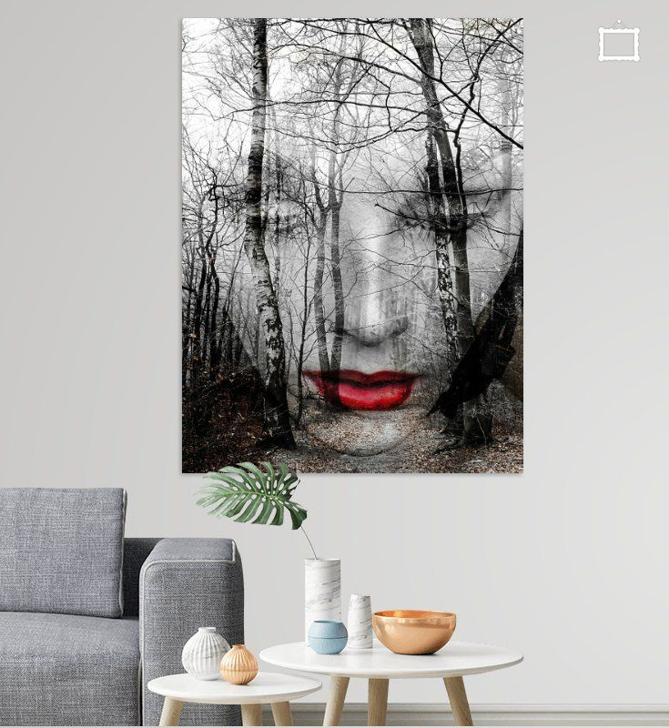The Face In The Forest Poster Gabi Hampe Forest Poster