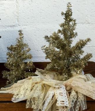 Fun Little Shinny Christmas Trees $14 to $15 Each Dallas Vintage