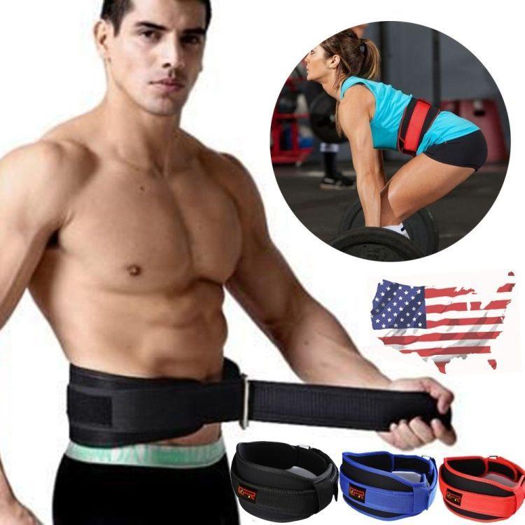 Waist Support Belt Heavy Sports Weight Lifting Lumbar Lower Back Brace Strap
