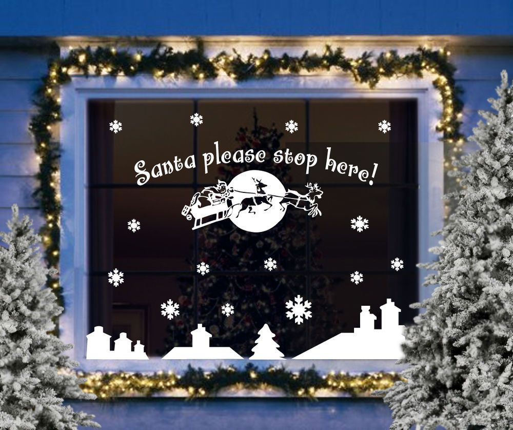 49++ Christmas window clings decals inspirations