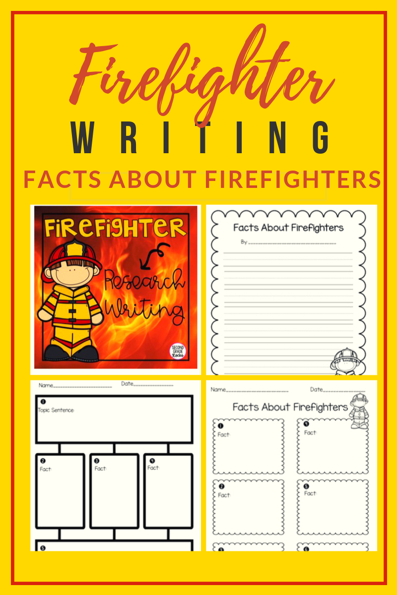 Firefighter Fact Writing Reading Comprehension Skills Writing Lessons Writing Activities [ 1200 x 800 Pixel ]