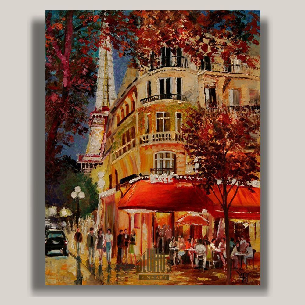 "Impressionism Paris: ""Meet Me In Paris"" ... YARY DLUHOS Paris Sidewalk Cafe"