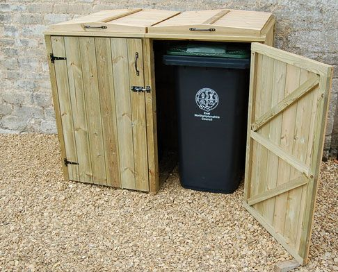 Wooden Wheelie Bin Storage Shed For 2 Bins   Available In 2 Sizes