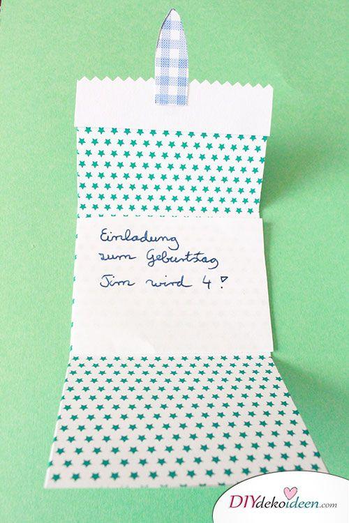 DIY Einladungskarten selber basteln Der Kindergeburtstag wird ein