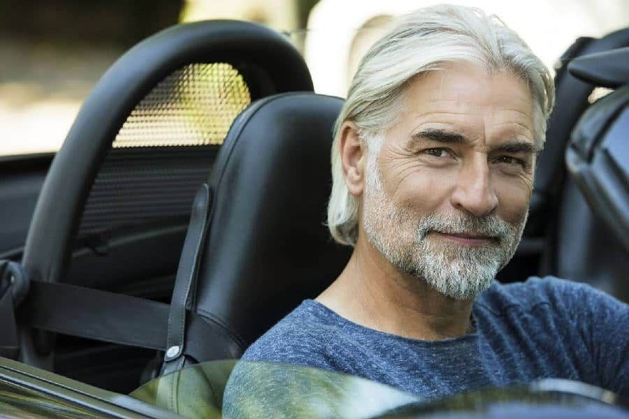 10 of the coolest long hairstyles for older men older