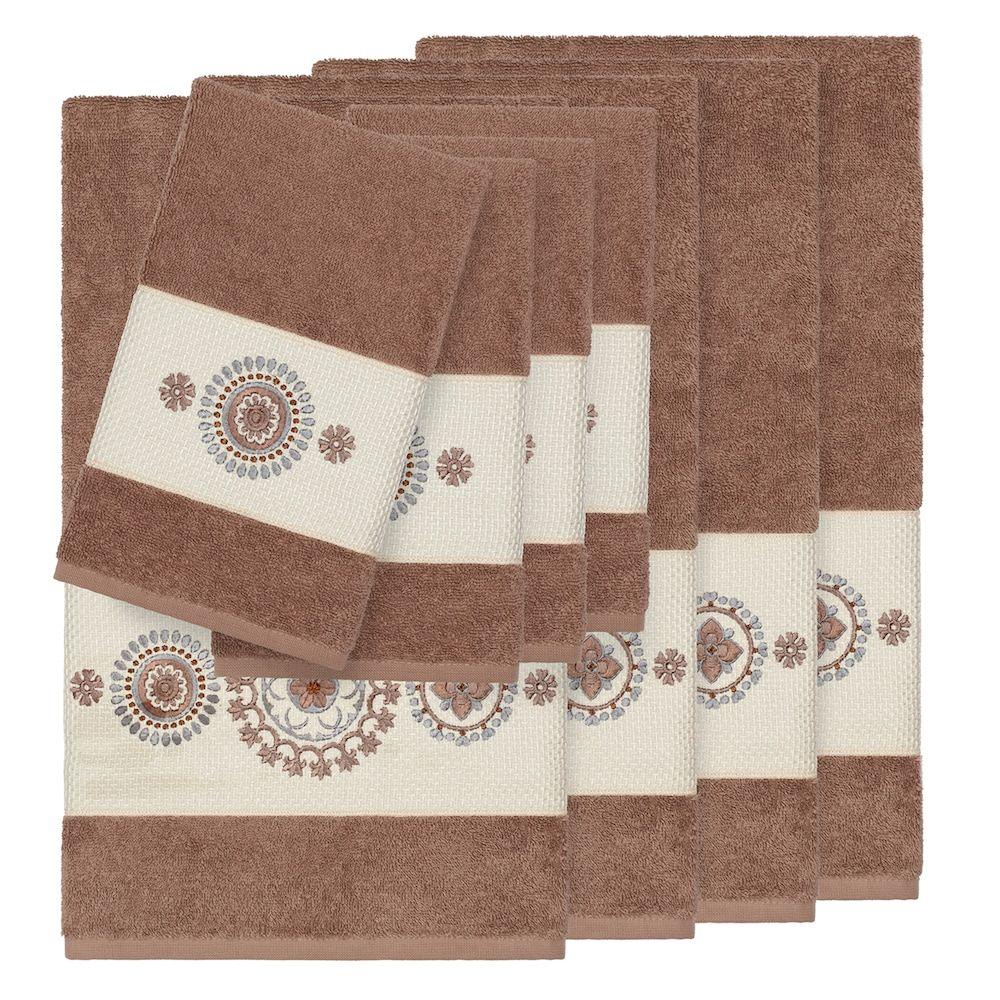 Linum Home Textiles 8 Piece Turkish Cotton Isabelle Embellished