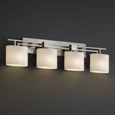 Justice Design Group Fusion Aero 4 Light Bath Vanity Light