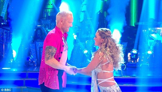 Last place:Next up was former sprinter Iwan Thomas, 41, whose Cha Cha to Sexy And I Know It with Ola Jordan sadly left him at the bottom of the leaderboard, with a total score of just 13