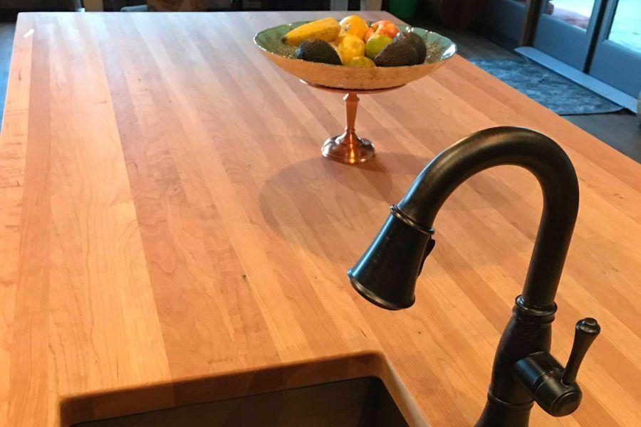 Wood Countertops Waterproof and Maintenance Free