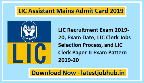 Applicants Can Download The Lic Assistant Mains Call Letter 2019