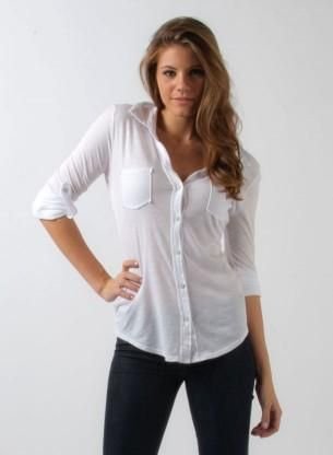 75a3c3135854c6 womens white button up shirt but I would probably want a different color.
