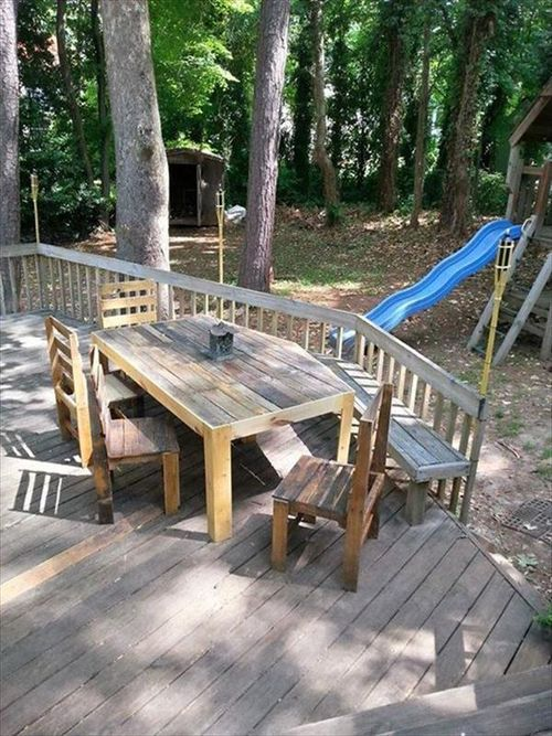Outdoor Patio Furniture made from Wood Pallets | Outdoor Furniture ...