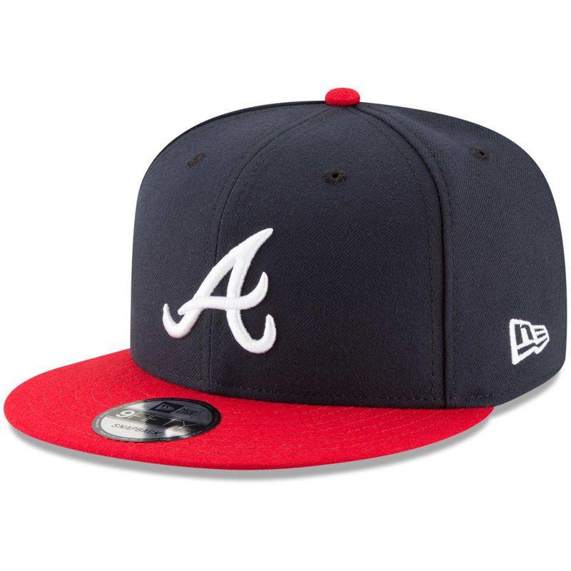 Atlanta Braves New Era Team Color 9fifty Adjustable Hat Navy Atlanta Braves Red Team Braves