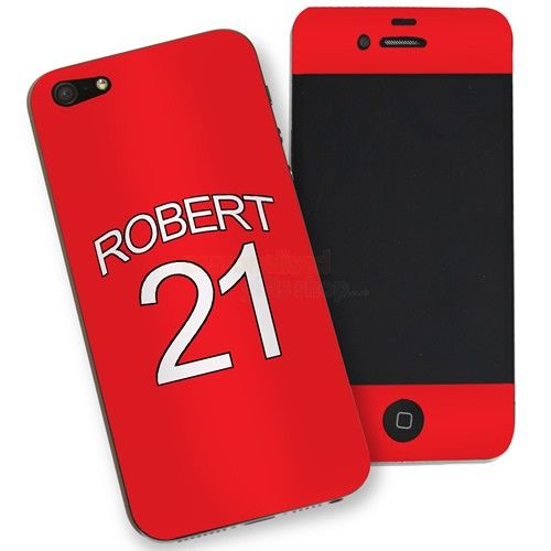 Personalised Manchester United Style iPhone 5 Phone Skin  from Personalised Gifts Shop - ONLY £7.95