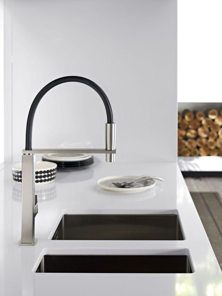 black sink in white benchtop - Google Search   Kitchen   Pinterest