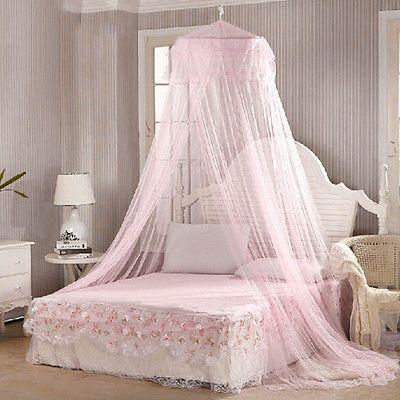 Prinzessin Betten · Tween · Home Bedroom Canopies Bed Canopy Netting  Curtain Midges Insect Mesh Mosquito Net