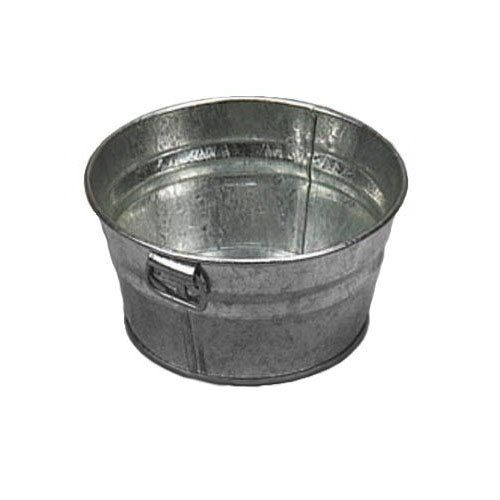 American Metalcraft Mtub63 Tub W Side Handle 6x3 Tin Galvanized Tub Metal Wash Tub Tub
