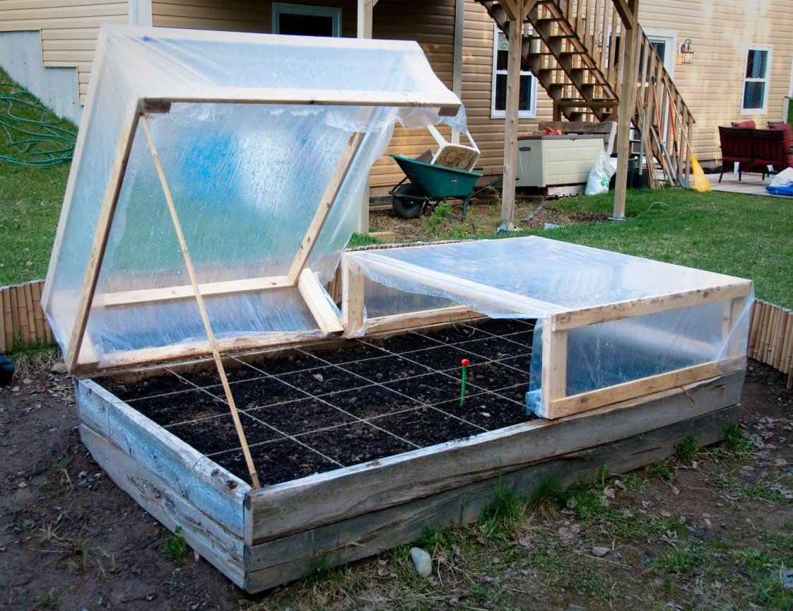 Diy raised bed cold frames cold frame raised bed and for Raised bed plans