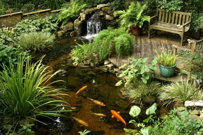 Fischteich Im Garten Anlegen | Teich | Pinterest | Garten Und ... Teich Im Garten Anlegen Und Pflegen Nutzliche Tipps Fur Hobby Gartner