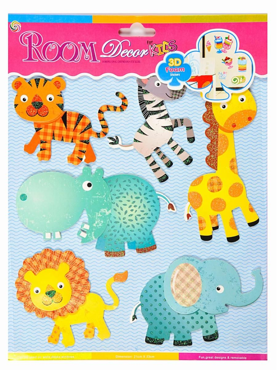 buy ollington st collection ollington st room decor 3d foam animal stickers online in - Room Decor 3d