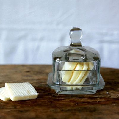 Creative Co-Op Bistro Glass Butter Dish