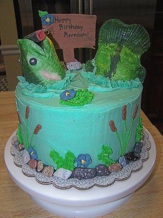 Fishing Birthday Cake For A Girl