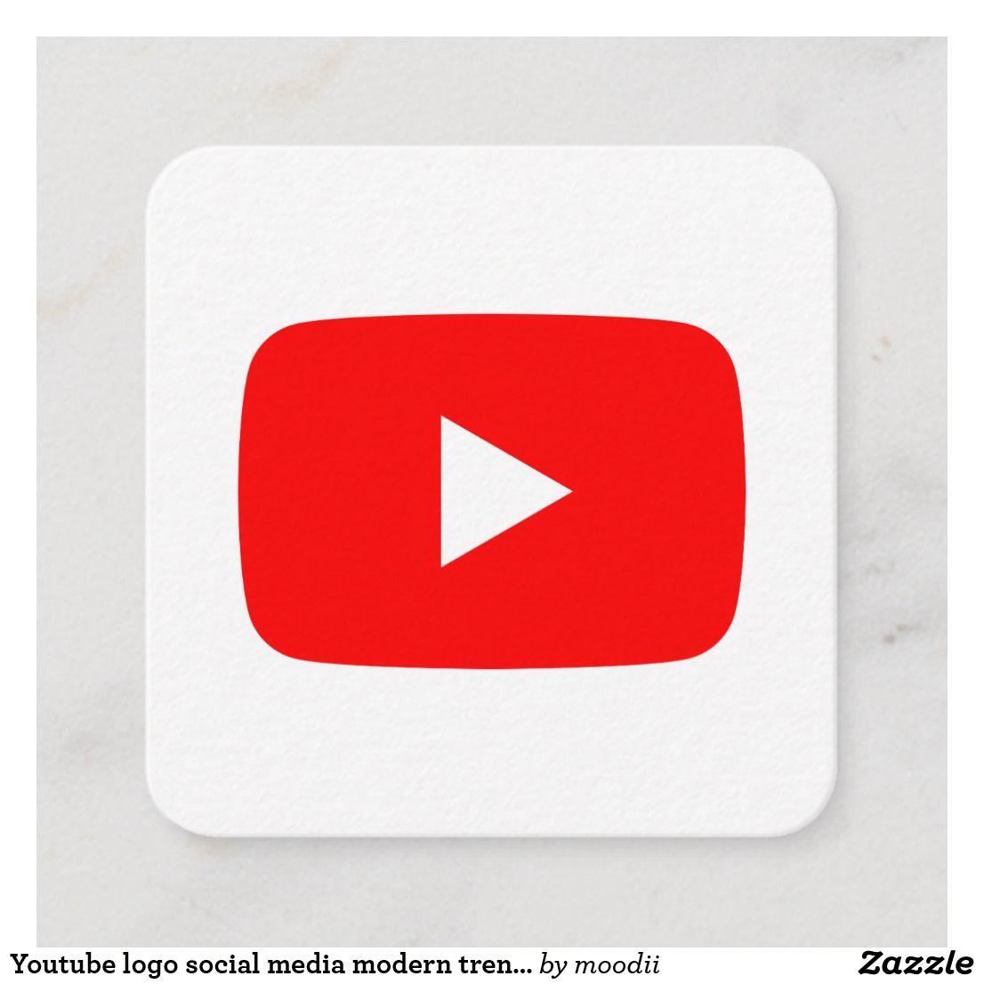 Youtube Logo Social Media Modern Trendy Business Calling Card
