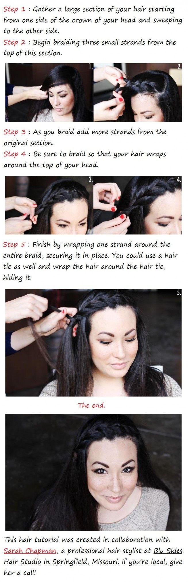 Side Braid Hair Tutorial Hair Braid Diy Hair Beauty Hair Tutorial