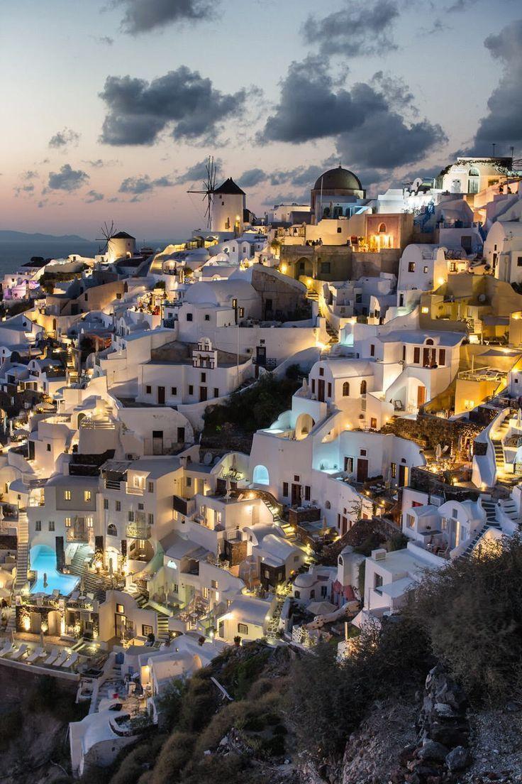 Nacht #in #oia, #santorini, #griechenland #visitgreece