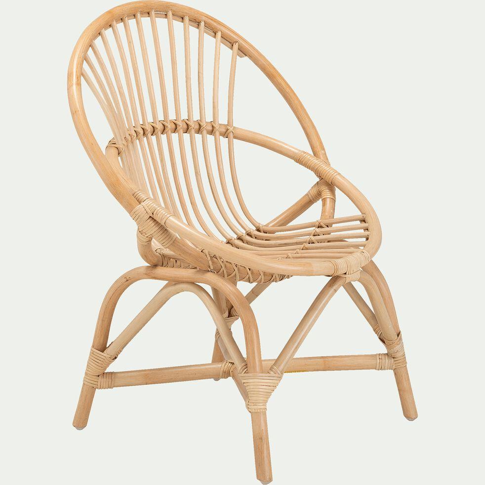 fauteuil enfant en rotin  naturel  widuri  table et