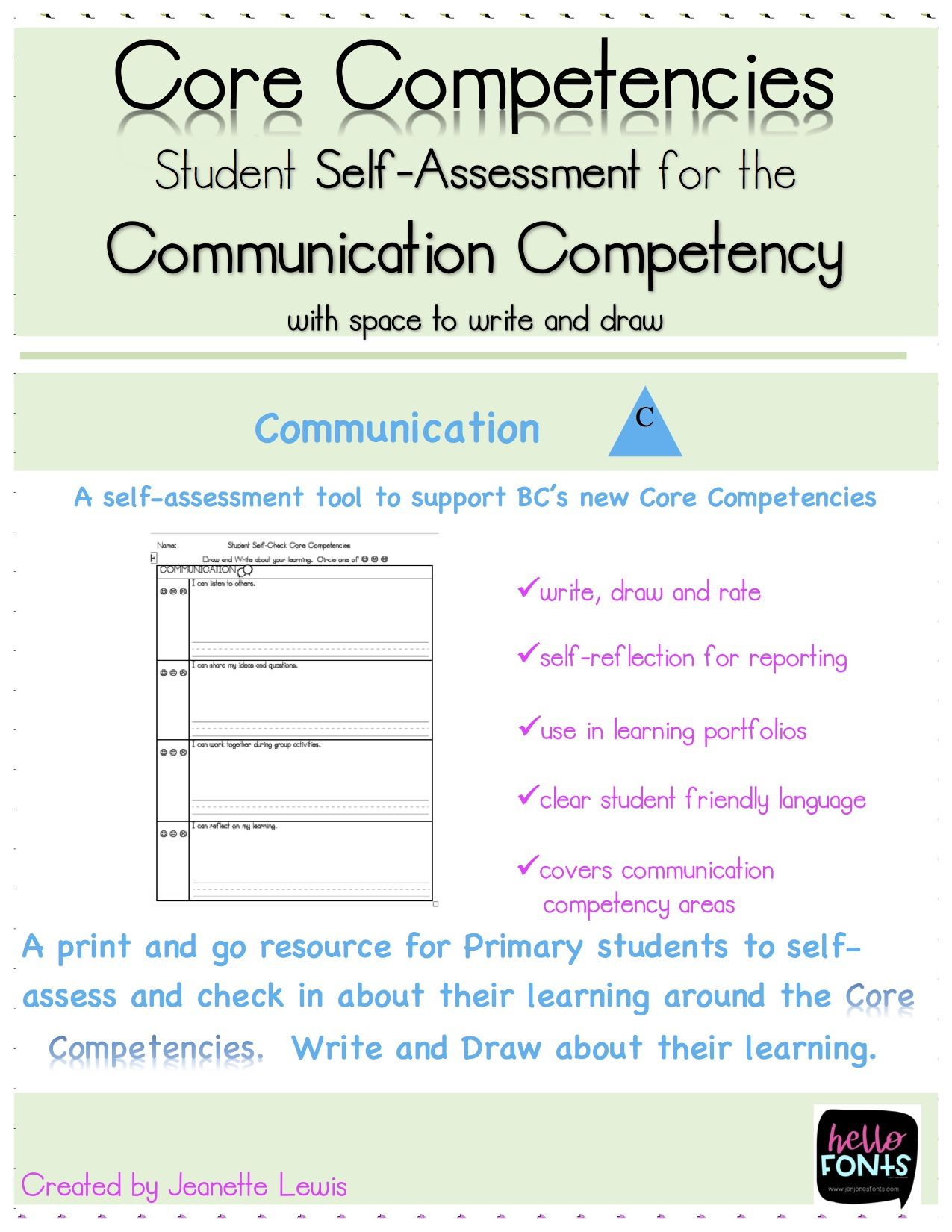 communication core competency self