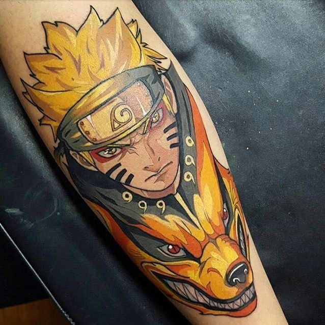 Naruto tattoo done by @tomhtattooist