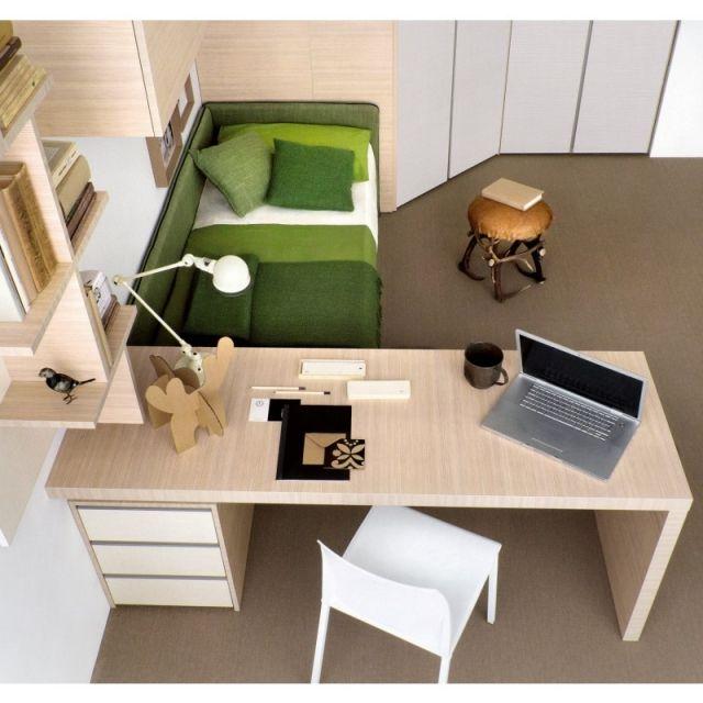 kinderzimmer schulkind schreibtisch bett holz regale. Black Bedroom Furniture Sets. Home Design Ideas