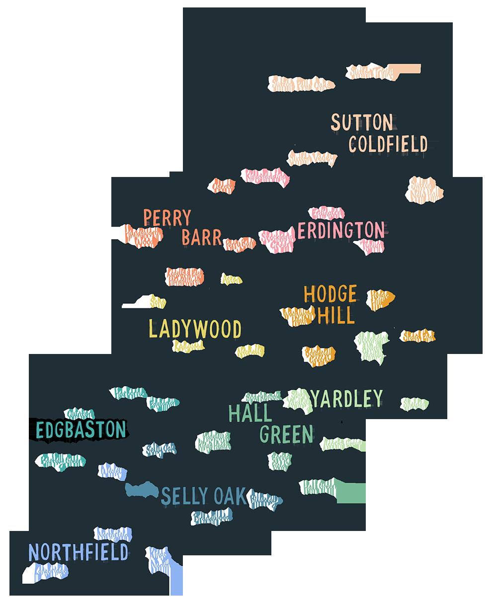 Map Of Uk Birmingham.Birmingham Sound Map My Roots In 2019 Birmingham Map Birmingham
