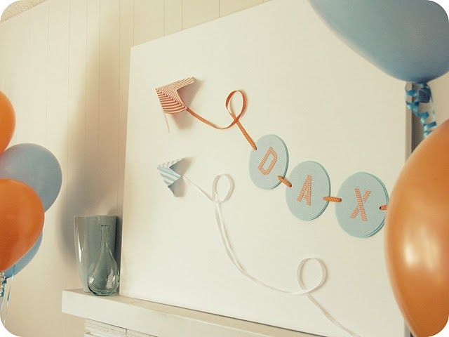 I like the idea of decorating the shower with things she can put in the baby's room. Super cute