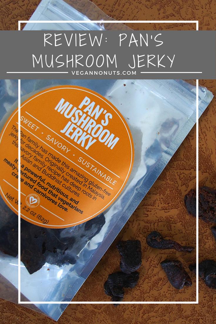 Review Pan's Mushroom Jerky Green eating, Vegan blogs