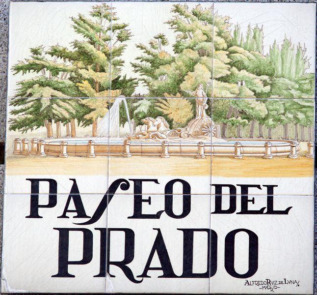 Paseo del prado placas pinterest paseos calle y madrid for Calle prado 9 madrid