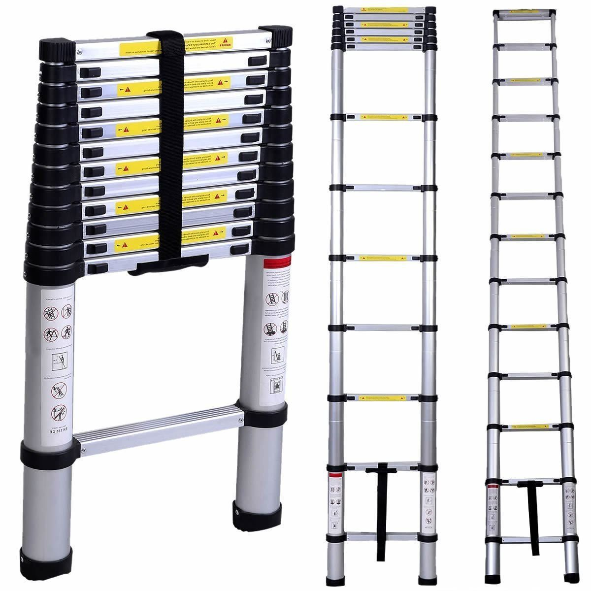 Oshion 12 5ft En131 Aluminum Telescoping Telescopic Extension Ladder 330 Pound Capacity Amazon Com Telescopic Ladder Aluminium Ladder Ladder