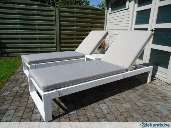 Ligbed ligzetel ligstoel ligstoelen in alu tuin for Ligstoel buiten