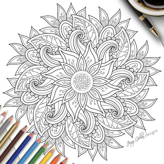 Coloración de adulto página Tango Mandala   arte terapia   Pinterest ...