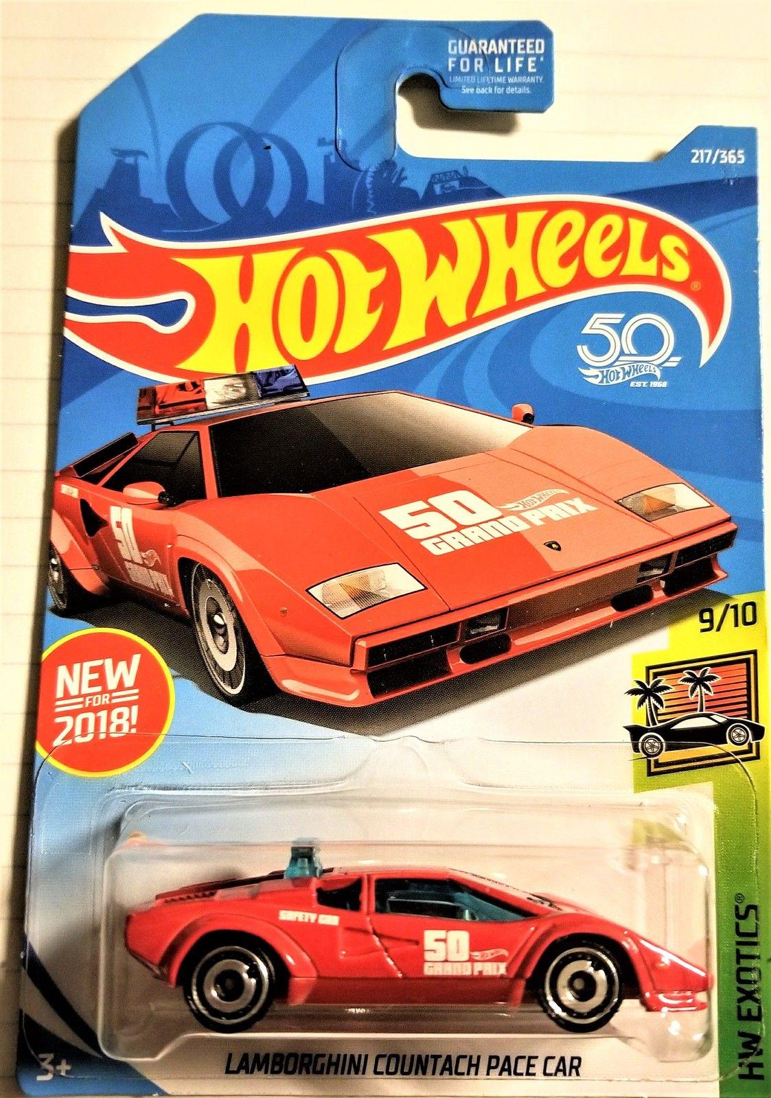 Hot Wheels 50th Anniversary Lamborghini Countach Pace Car Hw