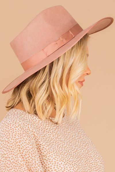 All On Track Mauve Pink Hat In 2021 Pink Hat Pink Brim Hat Outfit Fedora Hat Outfits