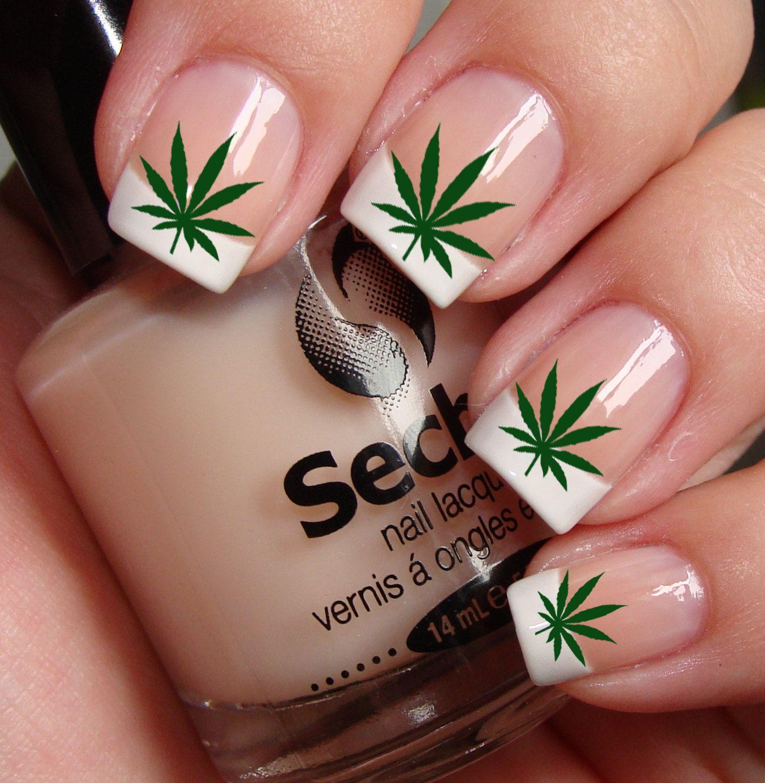Pot Leaves Marijuana Pot Nail Art Ptg Waterslide Transfer Decals