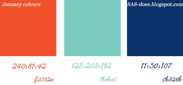 January palette - Pantone's colours of 2012 | January ...