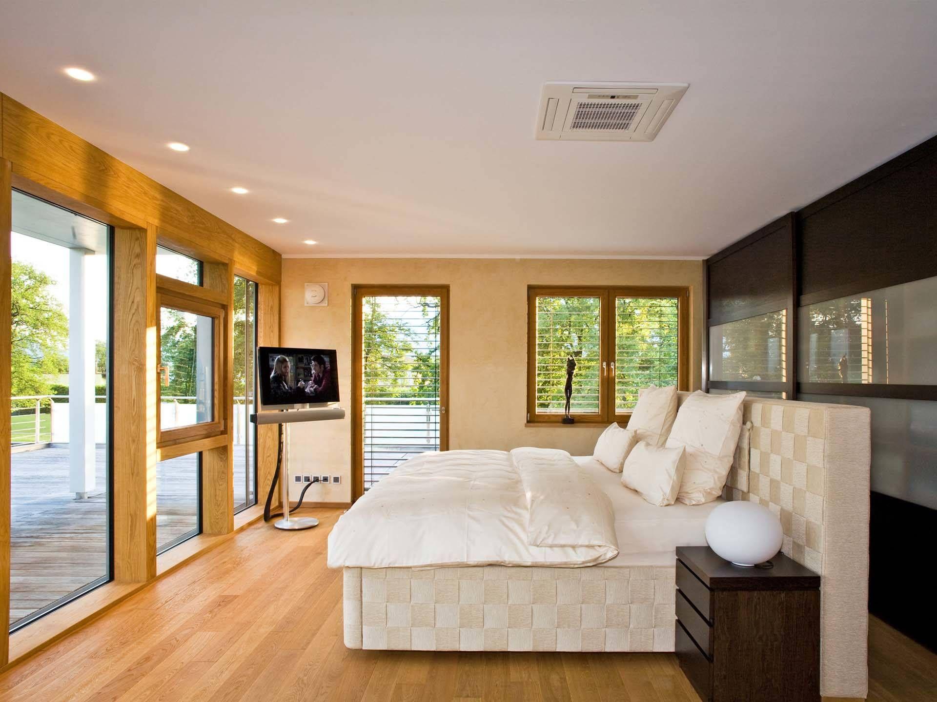 Schlafzimmer im Bauhaus Tessin von Baufritz • Mit Musterhaus.net ...